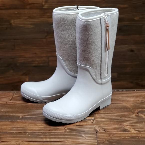 Sperry Walker Wind Rain Boot Oat Wool 7